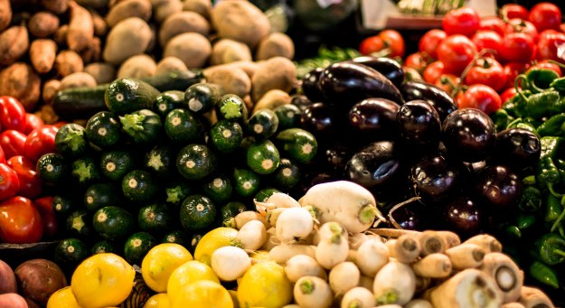 Colourful produce at La Boqueria market