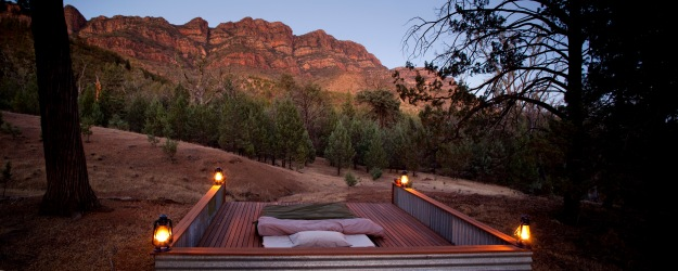 Your bed & swag on the hiking safari